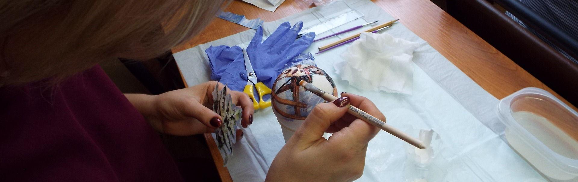 Мастер-класс декорирование предмета интерьера в технике Декупаж | 607x1920